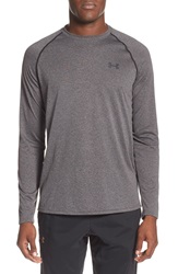 Under Armour Long Sleeve Raglan T Shirt Carbon Heather Black