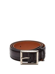 Berluti Scritto Leather Belt Black
