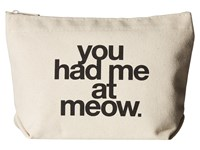 Dogeared You Had Me At Meow Tote Black Canvas Tote Handbags Multi
