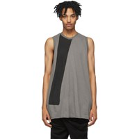 Julius Grey And Black Yoryu Tank Top