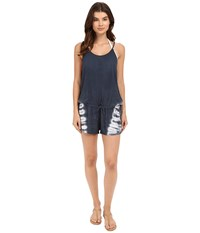 Lucky Brand Hazy Day Romper Cover Up Moonless Night Women's Jumpsuit And Rompers One Piece Multi
