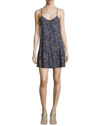 Current Elliott The Strappy Cotton Cami Dress Floral Field Blue Blue Pattern