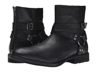 Frye Ethan Harness Black Buffalo Leather Cowboy Boots
