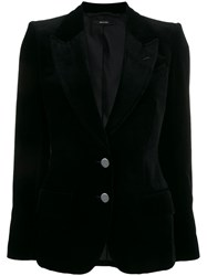 Tom Ford Velvet Two Button Blazer Black