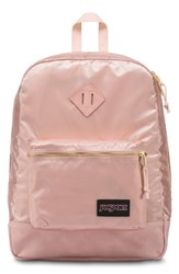 Jansport Super Fx Gym Backpack Pink Rose Smoke Gold