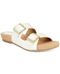 Giani Bernini Jijee Footbed Sandals Only At Macy's Women's Shoes White