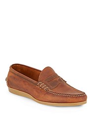 Walk Over Parks Leather Boat Shoes Brown