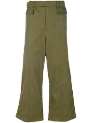 Di Liborio Wide Leg Long Trousers Green
