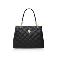 Anne Klein Stitch Away Chain Tote Black