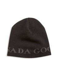 Canada Goose Wool Double Layered Beanie Black