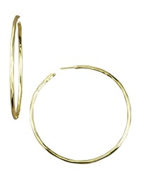 Ippolita Thin Glamazon Hoop Earrings Large Size L Gold