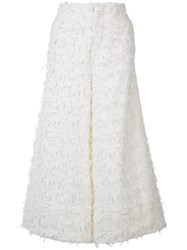 Co Textured Cropped Trousers White