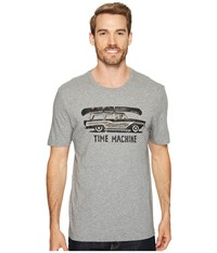 Life Is Good Time Machine Wagon Smooth Tee Heather Gray Men's T Shirt