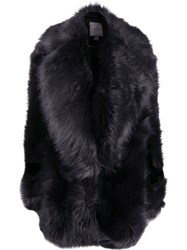 Urbancode Oversized Faux Fur Coat Blue