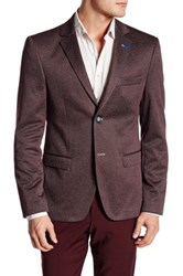 Ron Tomson Two Button Notch Lapel Fitted Blazer Red