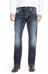 Rock Revival 'Josef' Straight Leg Jeans Dark Blue