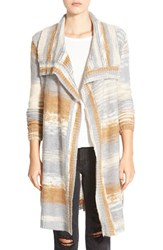 Junior Women's Element 'Joni' Drape Front Multicolor Cardigan