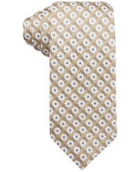 Tasso Elba Men's Tacoma Medallion Classic Tie Only At Macy's Yellow