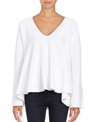 Free People Sundae Bell Sleeved Trapeze Knit Pullover White