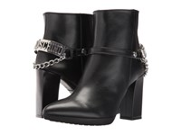 Love Moschino Ankle Boot With Heel Chain Logo Black