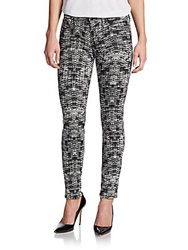 Joe's Jeans Mid Rise Houndstooth Print Skinny Jeans