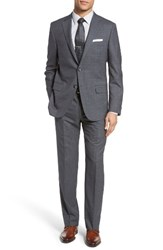 Hickey Freeman Men's Beacon Classic Fit Plaid Wool Suit