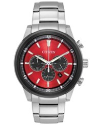 Citizen Men's Chronograph Titanium Stainless Steel Bracelet Watch 44Mm Ca4348 51X A Macy's Exclusive Style Red