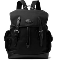 Mulberry Heritage Leather Trimmed Nylon Backpack Black