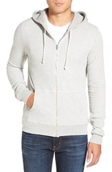 Men's Threads For Thought Waffle Knit Thermal Zip Hoodie Heather Grey