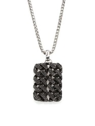John Hardy Gourmette Lava Sterling Silver And Black Ruthenium Pendant With Black Sapphires Dark Silver