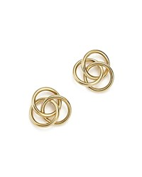 Bloomingdale's 14K Yellow Gold Large Love Knot Stud Earrings 100 Exclusive