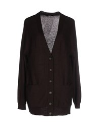 Alpha Massimo Rebecchi Knitwear Cardigans Women Dark Brown
