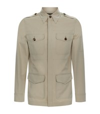 Tom Ford Lightweight Cotton Jacket Male Beige