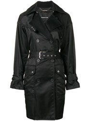 Barbara Bui Double Breasted Trench Coat Black