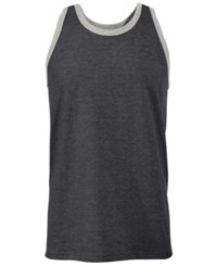 Champion Men's Classic Ringer Tank Top Granite Heather