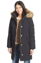Michael Michael Kors 'Expedition' Faux Fur Trim Down And Feather Fill Parka Black