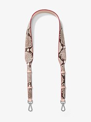 Michael Michael Kors Embossed Leather Handbag Strap Pink
