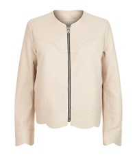 Sandro Evissa Leather Jacket Female Pink