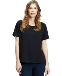 Violeta By Mango Plus Size Short Sleeve Blouse Black