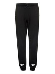 Off White Printed Cotton Jersey Track Pants