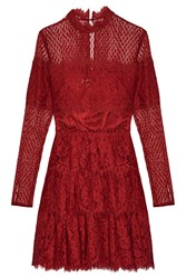 Temperley London Constance Tiered Cotton Blend Lace Dress