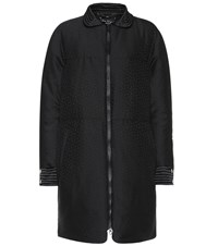 Salvatore Ferragamo Textured Wool And Silk Coat Black