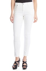 Karen Kane Women's 'Zuma' Stretch Crop Skinny Jeans White