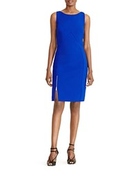 Ralph Lauren Petites Zip Slit Dress Ace Blue