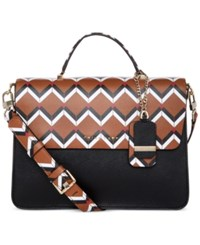 Trina Turk Las Palmas Top Handle Flap Satchel Mocha