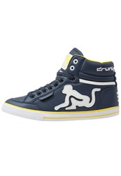 Drunknmunky Boston Classic Hightop Trainers Navy Blue Dark Blue