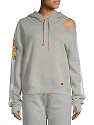 Peace Love World Cut Out Hoodie Heather