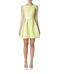 Erin Fetherston Speckled Fit And Flare Dress Citrine