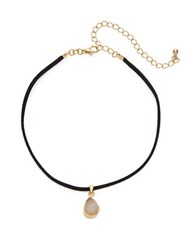 Design Lab Lord And Taylor Druzy Pendant Choker Necklace Black