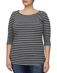 Junarose Anikas Striped Blouse Grey